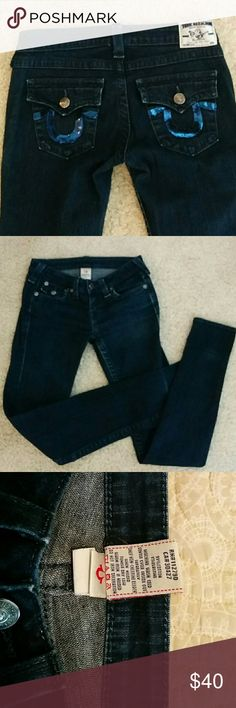 Blue true religion skinny jeans True religion  Julie jeans size 27 True Religion Jeans Skinny