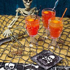 Give your Halloween party a high seas twist by  serving up some Blood & Sand cocktails. Get the recipe!