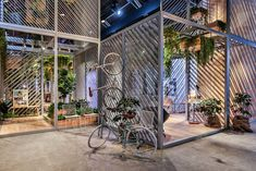 MINI LIVING + penda present 'urban nest' in shanghai: a living network of scaffolding