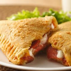 Crescent Pizza Pockets Allrecipes.com -  Make perfect pizza pockets by wrapping pizza sauce, mozzarella, and pepperoni in crescent dough and baking until golden brown