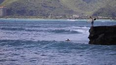 Surfing China Walls, Hawaii Kai, Oahu