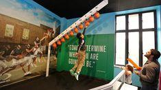 The Franklin Institute SportsZone - Art Guild Interactive Installation, Installation Art, Display Design, Booth Design, School Games For Kids, Game Booth, Franklin Institute, Interactive Activities, Interactive Design