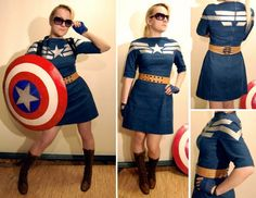 Handmade Captain America Dress Embodies Geek Chic Read more at http://fashionablygeek.com/handmade/handmade-captain-america-dress-embodies-geek-chic/#zUIt6OrlQqLygcMq.99