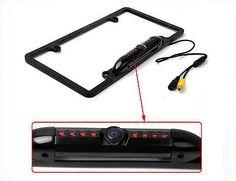 1Black-Car-Rear-View-Backup-Camera-8-IR-Night-Vision-US-License-Plate-Frame-CMOS