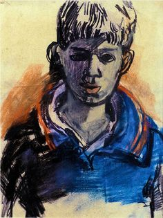 The subjects of Joan Eardley 's drawing and painting were the urban poor of Glasgow, and the land/seascape around the fishing village of C. Portrait Images, Portraits, Portrait Paintings, Figure Painting, Figure Drawing, Gouache, Glasgow School Of Art, Popular Artists, Scratchboard