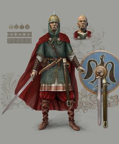 Reconstruction of Prince Svyatoslav of the Kievan Rus Prince Svyatoslav Igorevich was a prince of the Rus from 964 C. to 972 C. The son of Igor of Kiev and Olga of Kiev, Svyatoslav is famous for his unrelenting campaigns in the east and south of. Medieval Knight, Medieval Fantasy, Viking Armor, Empire Romain, Templer, Norse Vikings, Fantasy Warrior, Anglo Saxon, Dark Ages