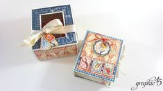 Vol 06 Kits Now Available - Mini Album, Box, and Card Trio! Tri Fold Cards, Folded Cards, Mini Photo, Graphic 45, Junk Journal, Altered Art, Booklet, Coupon Codes, Mini Albums