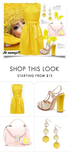 """So sunny!!!!!!"" by m-illumino-di-glamour ❤ liked on Polyvore featuring Fendi, Mark Cross and Armitage Avenue"