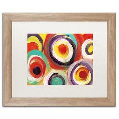 "Trademark Art ""Bright Bold Circles 2"" by Amy Vangsgard Framed Painting Print Size: 16"" H x 20"" W x 0.5"" D"