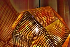 A closeup of our Tom Dixon lamp in the Sky Studios.