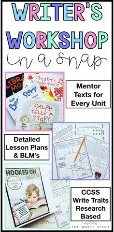 Writer's Workshop year long curriculum set includes everything you need to teach writing to your 2nd/3rd grade writers. #creativewriting #mentortexts #writersworkshop