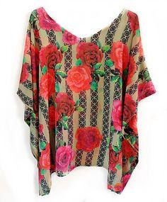 Blusa Kaftan Plus Size GG Frida Kahlo