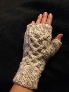 Fingerless Gloves These extra warm Fingerless Gloves / wrist warmers will keep your hands warm all the year around. They are hand knitted with