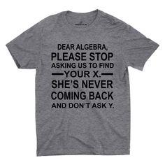 Dear Algebra Please Stop T-shirt
