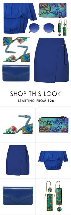 """""""Untitled #2391"""" by countrycousin ❤ liked on Polyvore featuring MANGO, Anuschka, Miss Selfridge, Lodis and Xanthe Marina"""