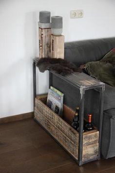Bekijk de foto van maiidee met als titel Stoere bijzetter van metaal gecombineerd met sloophout en andere inspirerende plaatjes op Welke.nl.