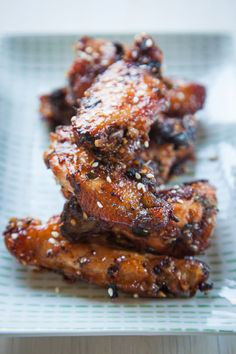 Korean BBQ marinated chicken wings. Recipe and Photo by Irvin Lin of Eat the Love. www.eatthelove.com