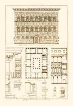 Palazzo Strozzi, Firenze /  Benedetto da Maiano  or Attributed to architect Giuliano da Sangallo (?)