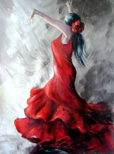 FLAMENCO.....PAINTING.......BY DAM DOMINO.....BING IMAGES......