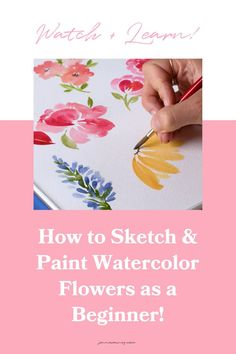 This video tutorial will teach you how to sketch watercolor flowers so you know how to paint them! If you are interested in painting watercolor flowers, get the basics of sketching down first! It'll help your work be the best they can be.