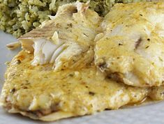 i'm going to try this tonight...Baked Tilapia with Parmesan Mayo and Lemon Sauce