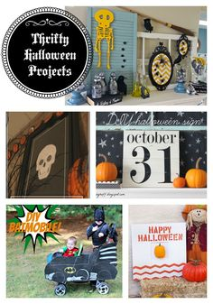 Thrifty Halloween projects - part of Get Your DIY On Challenge