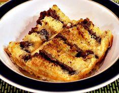 Nutella Brioche Pudding, bread and butter pudding, comfort food, dessert, pud, British, stale bread, custard, chocolate