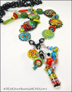 MICHOU Anderson Lampwork Jewelry  Glass bead by MichouJewelry, $479.00