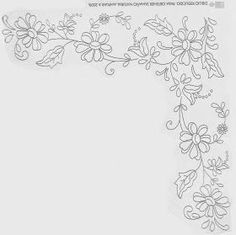 Vintage Briggs Embroidery transfer floral cushion or table cloth centre - Salvabrani Floral Embroidery Patterns, Baby Embroidery, Silk Ribbon Embroidery, Hand Embroidery Patterns, Machine Embroidery Designs, Embroidery Stitches, Needlepoint Stitches, Crochet Stitches Patterns, Towel Crafts