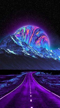 Wallpaper Earth, Planets Wallpaper, Trippy Wallpaper, Wallpaper Space, Scenery Wallpaper, Dark Wallpaper, Colorful Wallpaper, Nature Wallpaper, Dark Background Wallpaper