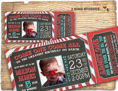 Circus invitation  carnival party invitation  by 2birdstudios