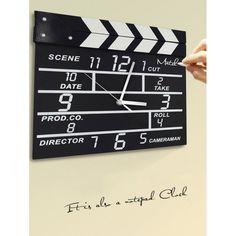$21.89 Sitting Room Mechanical Wall Clock Movie Set Clock - Black
