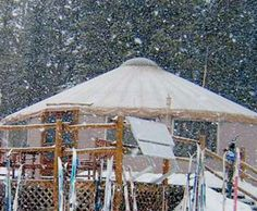 Yurt at Tenessee Pass just outside of Leadville; ski in for a delicious, romantic, off the grid meal...