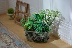 Miniature 1: 12 scale  Planter Plants by MiniMondeBoutique on Etsy
