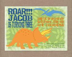 Custom Printable Dinosaur Birthday Invitation. $10.00, via Etsy.