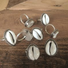 cowrie shell heaven // our bohemian luxe cowrie shell rings @shoptikigirl