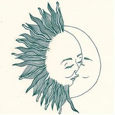 """i'm getting this in my arm, one side will be the drawing and the other will have the quote:   """"tell me the story  about how the sun  loved the moon so much  he died every night  to let her breathe."""""""