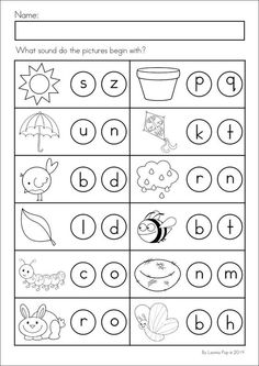 Beginning Sound Independent Pages FREEBIE- Kindergarten At Heart ...