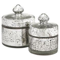Mercury Glass Jars.