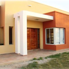 House Exterior Color Schemes, House Paint Exterior, Simple House Design, Modern House Design, Modern House Facades, Modern Architecture, Modern House Colors, Small Floor Plans, House Elevation