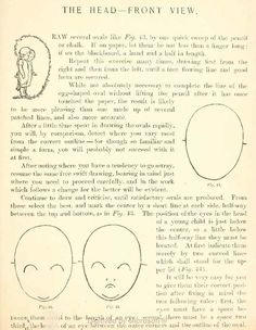 Drawing Childs Face from Front