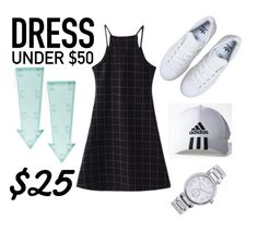 """""""#DressUnder50"""" by malikes ❤ liked on Polyvore featuring adidas, New Look, MICHAEL Michael Kors and Dressunder50"""