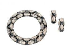 A Coloured Diamond 'Anaconda' Bracelet and Ear Clips, Roberto Demeglio « Dupuis Fine Jewellery Auctioneers