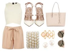 """Nude can be classy"" by warmingtontr ❤ liked on Polyvore featuring Oasis, River Island, Valentino, Michael Kors, Monsoon and Fendi"