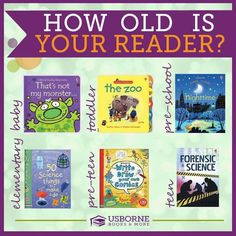 Usborne has books for every reader! These books are awesome. I'm a teacher and I love them!