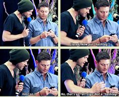 [GIFSET] Jared teaching Jensen to tweet #awww im laughing out loud right now at their cuteness
