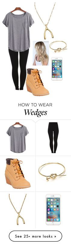 """""""ConradSewell- Hold me up"""" by khaliyah44 on Polyvore featuring Pieces, Timberland and Meredith Hahn"""