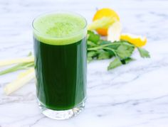The combo of kale, dandelion and parsley makes this super green juice perfect for detoxing. It gives a boost of vitamins, antioxidants, and aids in digestion. Dont skimp on the lemon—you need it to balance …