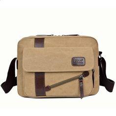 Nieuwe Vintage Canvas Schoudertas Mannenmode Patchwork Lederen Mannen Messenger  Bags Casual Crossbody Tassen Voor Mannen Mannelijke Satchel 1294 54b926ac312b5