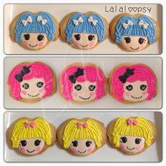#Lalaloopsy #Cookies #Favors #Sweet #eklu #delicious #pink #yellow #blue